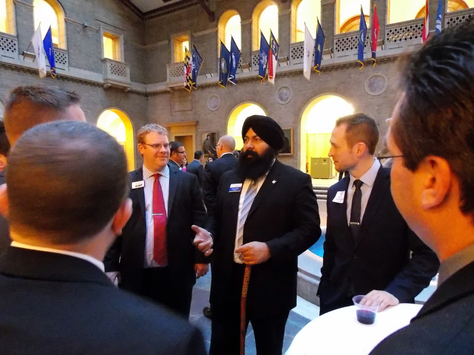 Meeting and discussing California agriculture with Karm Bains, an alum and Director of CALP.
