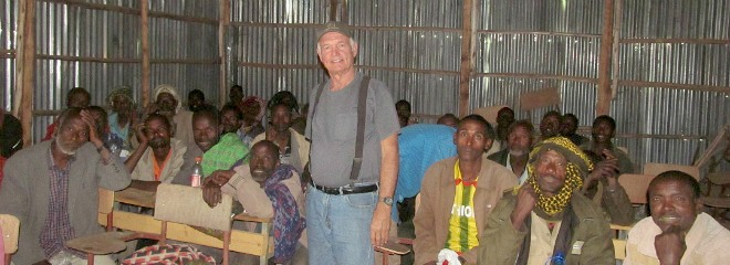 Norbert Soltwedel, a graduate of the IALP, meets with farmers in Ethiopia on his 6th trip to East Africa. This farmer-to-farmer training shows support and encouragement toward food security and economic growth.